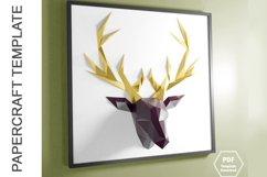 PDF Template Of Deer Papercraft /3D Papercraft Product Image 3