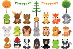 Woodland Baby Animals Clipart | Forest Animal Clipart Product Image 1