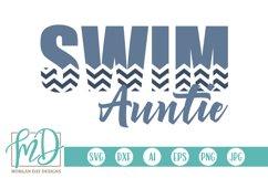 Swim - Swimming - Aunt - Proud Auntie - Swim Auntie SVG Product Image 1