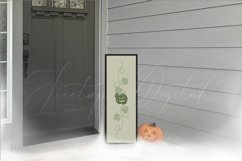Halloween Porch Sign Mockup, A Vertical Porch Sign Mock-up Product Image 2