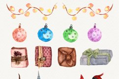 Watercolor Christmas decor clipart, Winter collection, birds Product Image 5