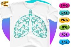 Human Lungs Svg, Respiratory, Pulmonary Shirt Svg, Png, Dxf Product Image 1