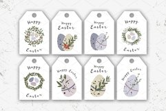 8 Easter tags. Cute Easter egg. Eco rustic decoration Product Image 2