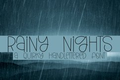 Rainy Nights - A Quirky Handlettered Font Product Image 1