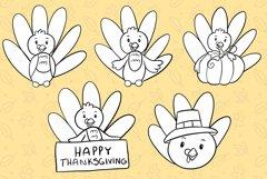Cute Fall Turkeys Digital Stamps Product Image 2
