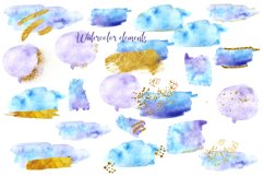 Watercolor Brush Strokes Splash ,Blue Watercolor Branding Product Image 4