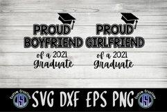 Proud Boyfriend Girlfriend 2021 Graduate   SVG DXF EPS PNG Product Image 2