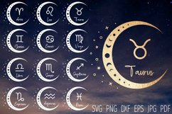 Zodiac signs svg bundle, Astrology Svg, horoscope bundle svg Product Image 1