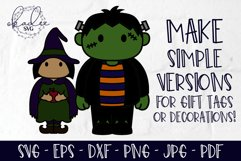 3D Halloween Characters, Layered Halloween SVG, DXF, Cat Product Image 2