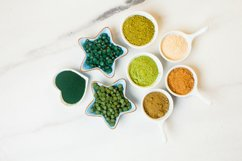 Top view of various dietary supplements Product Image 1