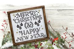 Christmas SVG - Merry Christmas and Happy New Year Product Image 4