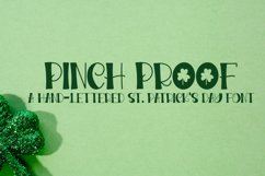 Pinch Proof - A Hand-Lettered St. Patrick's Day Font Product Image 1