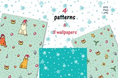 Xmas Cats clip-art, patterns, cards Product Image 6