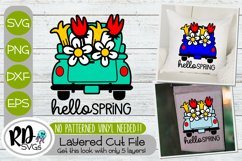 Spring Sign and Garden Flag Bundle - A Set of Layered SVGs Product Image 2