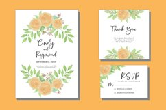 Elegant Floral Watercolor Wedding Invitations Set Card SVG Product Image 1