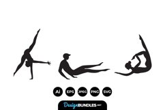 Gymnast Silhouttes Product Image 1
