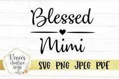 Blessed Mimi | Grandparents | SVG Cutting File Product Image 2