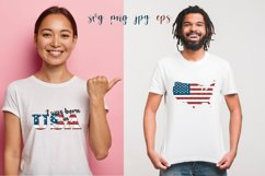 Sublimation, Svg, I Was Born In America Product Image 1