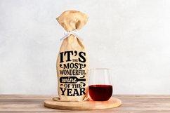 Wine Bag SVG Bundle, Christmas Wine SVG files for Cricut Product Image 14