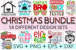 Giant Christmas Bundle of 58 SVG DXF PNG EPS Cutting Files Product Image 1