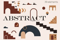 Abstract shapes clipart, Modern elements PNG, SVG geometric Product Image 1