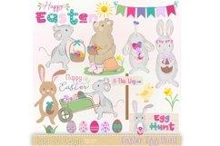 Easter Egg Hunt Clipart Product Image 1
