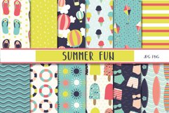 Summer fun clipart and paper set Product Image 2