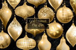Gold Christmas Ornament Clipart Product Image 1