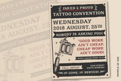 Sailors Diary Title Slab Tattoo Style Font Product Image 2