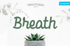 Breath - Beauty in Bold Script Product Image 1
