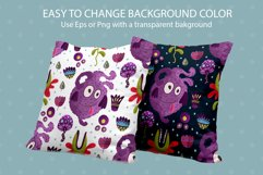 Cute Monster Seamless Pattern Set. Product Image 4