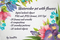 Watercolor flowers, clipart. Spring flowers Product Image 1