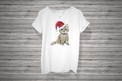 A kitten in a Santa's hat, sublimation Product Image 1
