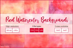 Red Watercolor Digital Paper, Sublimation Watercolor Texture Product Image 1