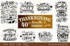Thanksgiving SVG bundle 40 designs Fall and pumpkins SVG bun Product Image 2