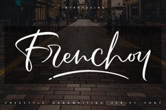 Frenchoy | Handwriting Script Font Product Image 1