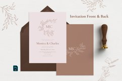 Minimal Sketch Floral Invitation Suite Product Image 2