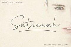 Satrinah - Signature Font Product Image 1