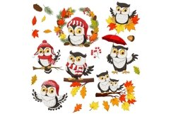 Owl Fall Autumn Bundle Product Image 1