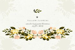 Yellow Watercolor Flowers Product Image 2