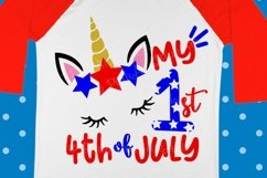 My first 4th of july SVG - 4th of july svg - Baby svg - Unicorn svg - Miss america - Newborn - Baby girl - Summer - SVG - dxf- eps- png- pdf Product Image 1