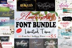 Authenthic Font Bundle Product Image 1