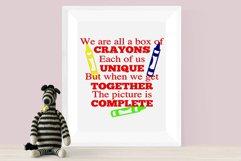 Box of Crayons School Wall Decor Teacher Wall Print Product Image 2