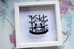 Panda paper cut designs. SVG / DXF / EPS / PNG Files Product Image 5