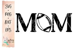 Football Mom SVG, Football Clipart, Mother's Day Football Product Image 2