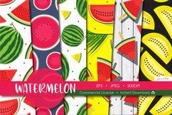 Watermelon Fruit Seamless Pattern Background Product Image 1
