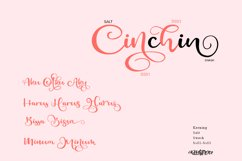 Cinchin - Lovely Script Font Product Image 3