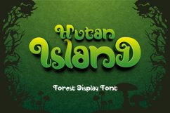 Hutan-Island Display Font Product Image 1