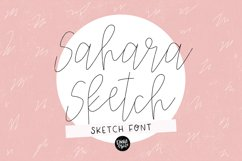 """""""SAHARA SKETCH"""" Sketch Font - Single Line/Hairline Font Product Image 1"""