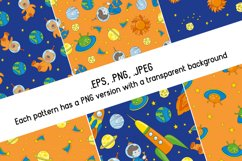 LITTLE SPACEMAN Vector Illustration Seamless Pattern Set Product Image 4